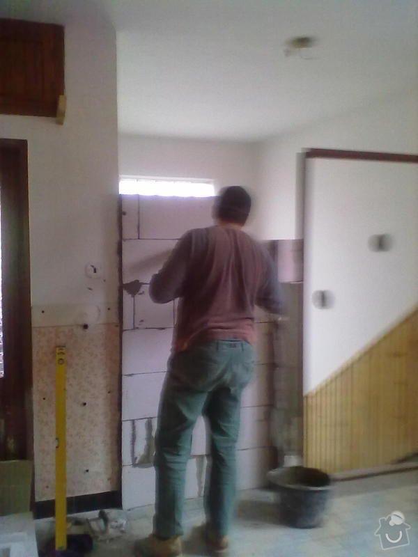 Odstranění části zábradlí,zazdění dveří,vyzdění příčky,: 17112011023