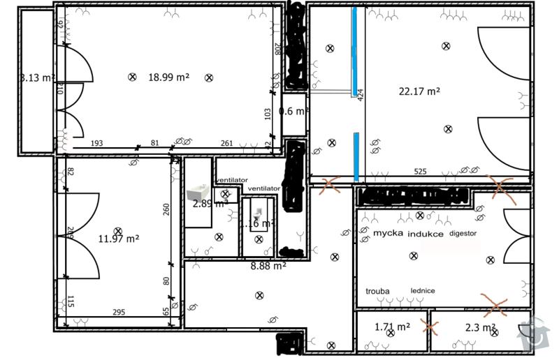 Kompletni rekonstrukce elektroinstalace v cihlovém 3+1 bytě: stankova_elektrika