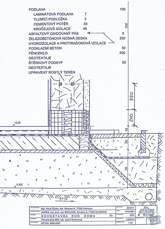 Základová deska na pěnovém skle: Det15-SCF3788