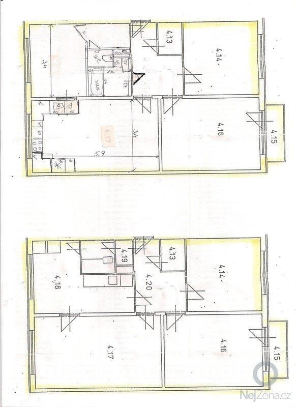 Rekonstrukce bytového jádra a kuchyně: nakres_001