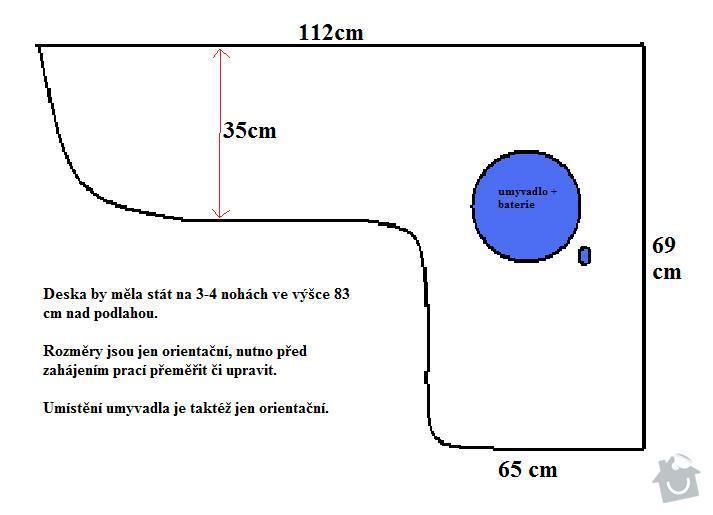 Deska pro umyvadlo do koupelny: Deska_-_koupelna