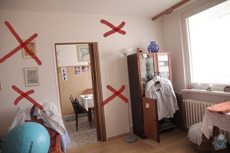 Bourací + stavební práce v panelovem bytě : 1