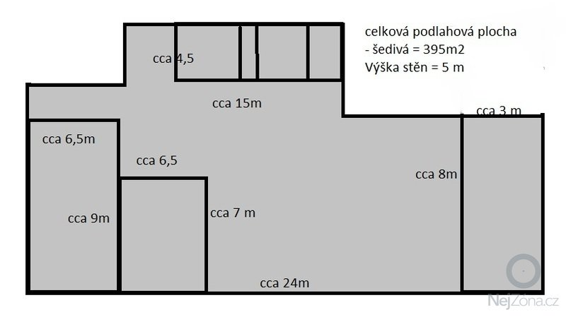 Malířské práce - 5m vysoké zdi: Planek_prostor_-_ODHADEM