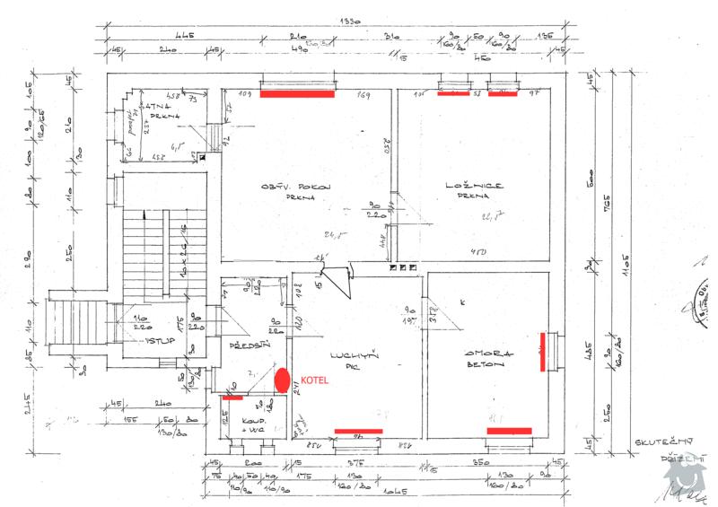 Rekonstrukce etážové topení : planek-topeni