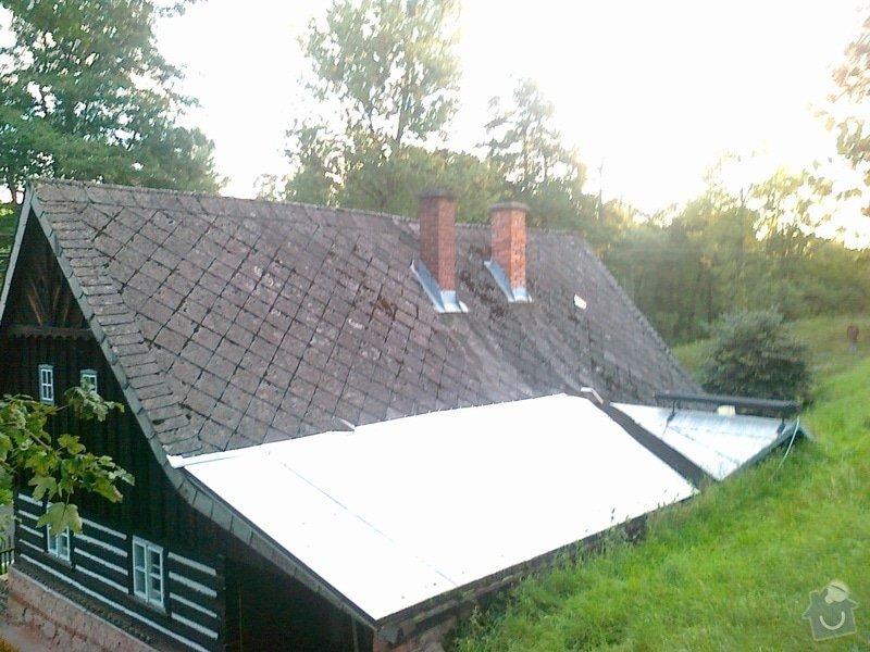 Oprava stávajícího krovu,demontáž,montáž krytiny.: 1