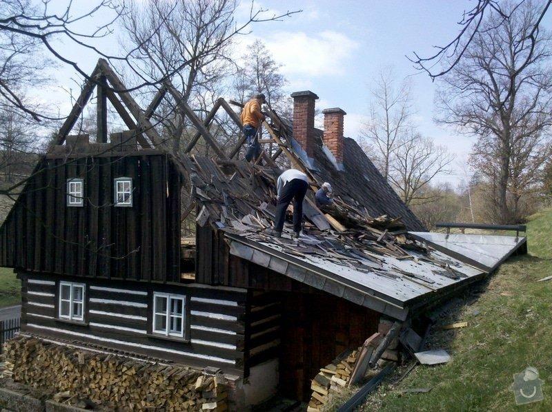 Oprava stávajícího krovu,demontáž,montáž krytiny.: 2