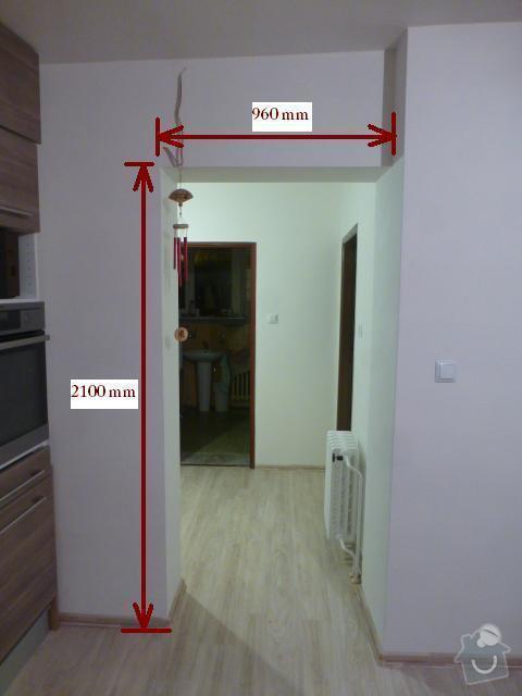 Výroba int. posuvných dveří na stěnu: rozmer