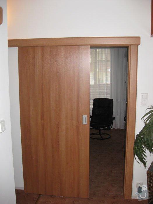 Výroba int. posuvných dveří na stěnu: vzor2