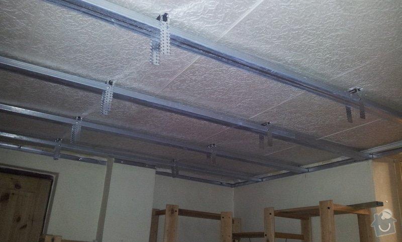 Montáž sádrokartonových stropů: 20130129_102523