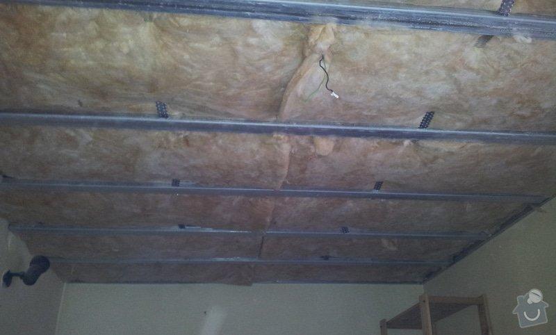 Montáž sádrokartonových stropů: 20130129_111345