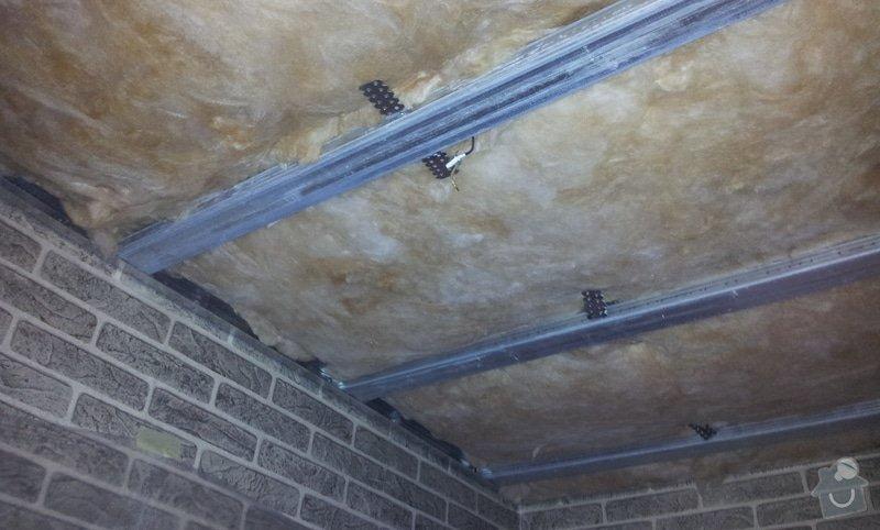 Montáž sádrokartonových stropů: 20130129_111417