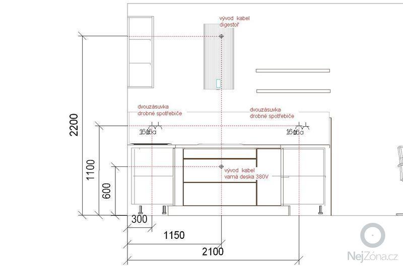 Malířské práce, SDK podled a rozvedení elektro pro kuchyni: I2