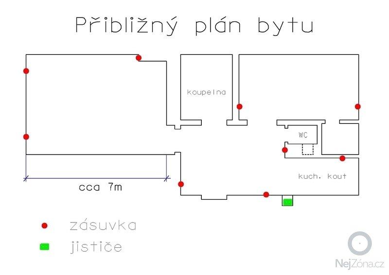 Rekonstrukce elektroinstalace ve starším bytě: Byt