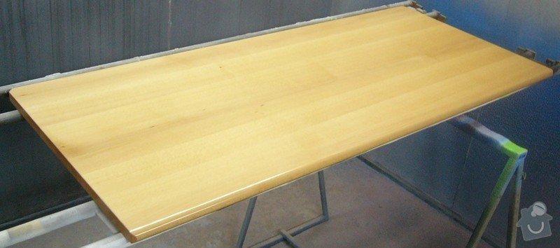 Lakování (nástřik, stříkání) bukového dřeva do vysokého lesku: P1030682