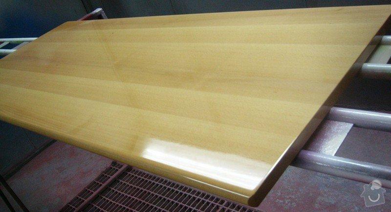 Lakování (nástřik, stříkání) bukového dřeva do vysokého lesku: P1030747