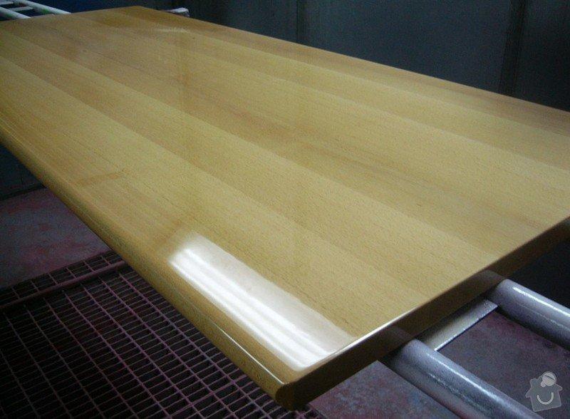 Lakování (nástřik, stříkání) bukového dřeva do vysokého lesku: P1030798