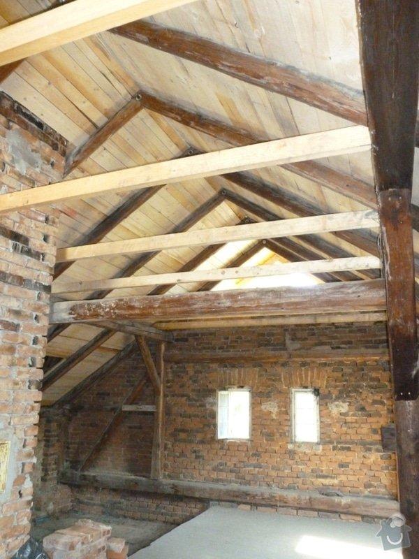 Oprava  krovu, pokládka krytiny Satjam: P1000112