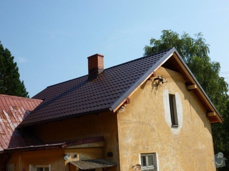 Oprava  krovu, pokládka krytiny Satjam: P1000109