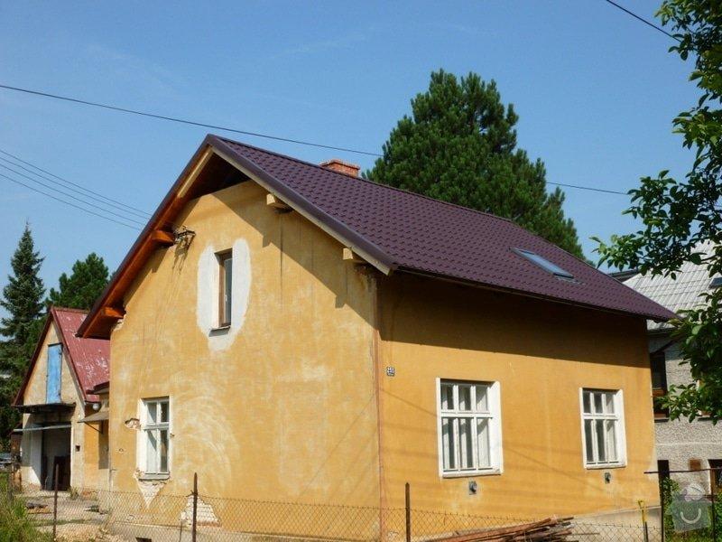 Oprava  krovu, pokládka krytiny Satjam: P1000107