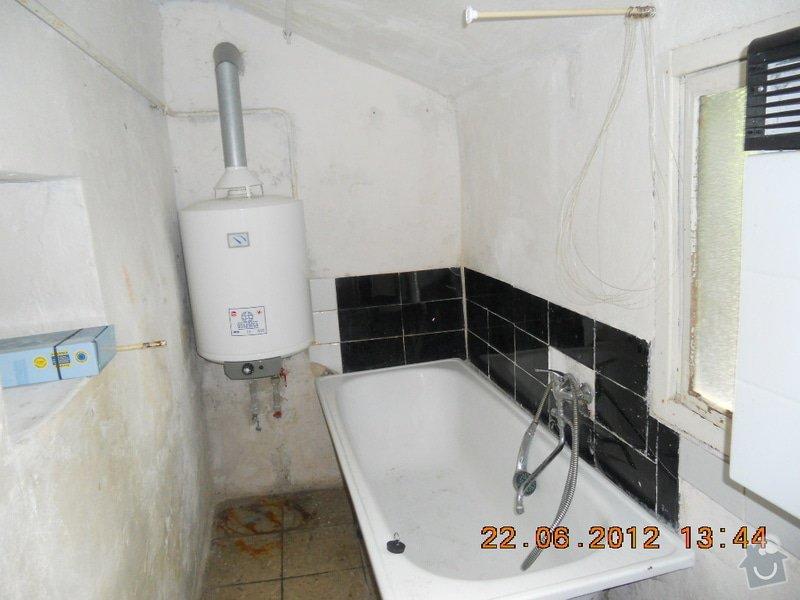 Rekonstrukce koupelny: pred..