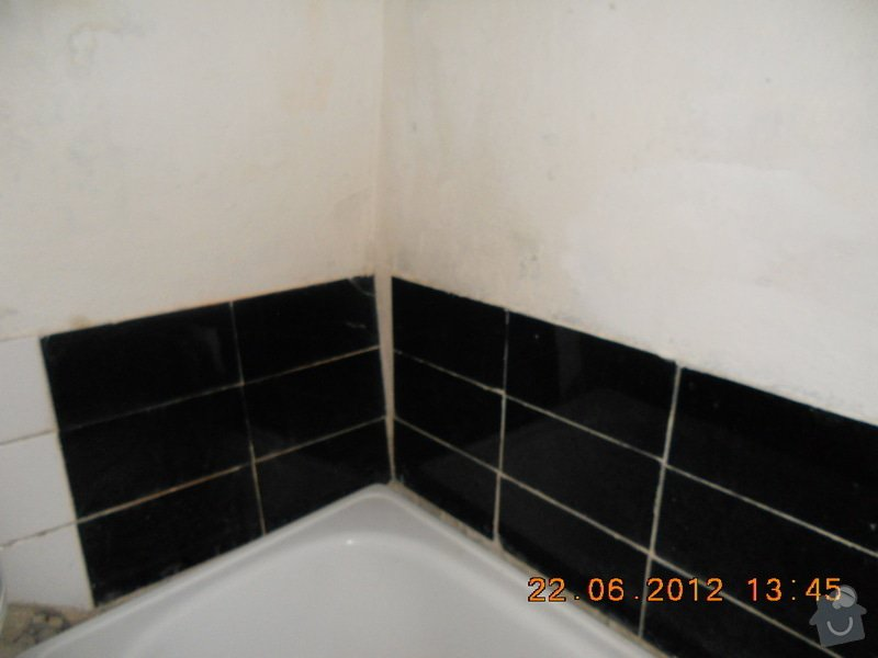 Rekonstrukce koupelny: pred.