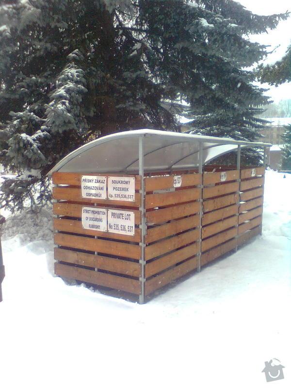 Oplocení odpadních kontejnerů: pozink_drevo