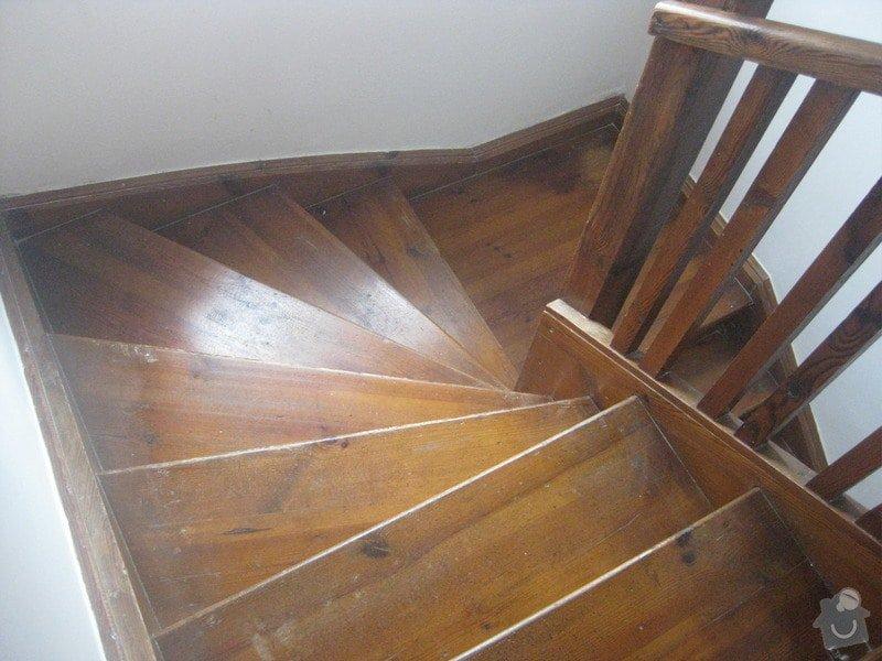 Brouseni a lakovani schodu: schody1