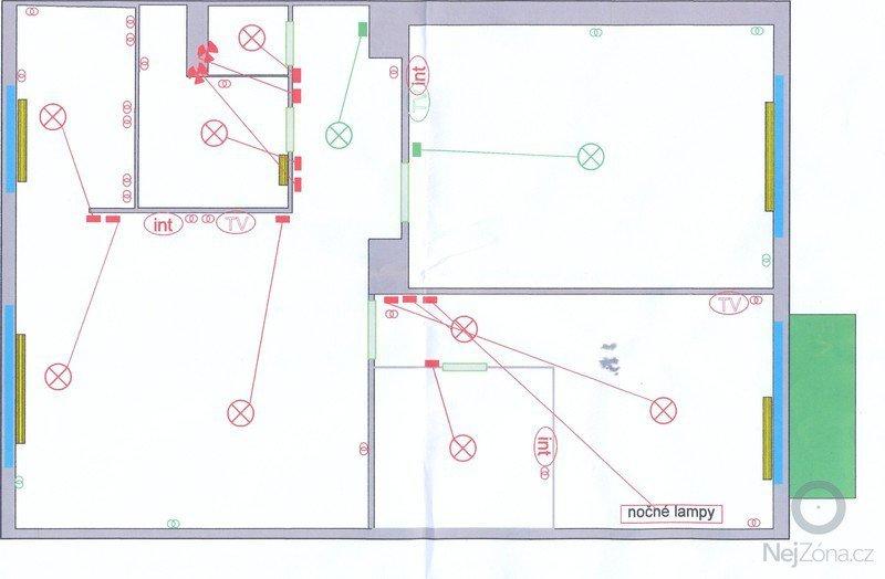 Rekonstrukce bytu 3+1: elektro
