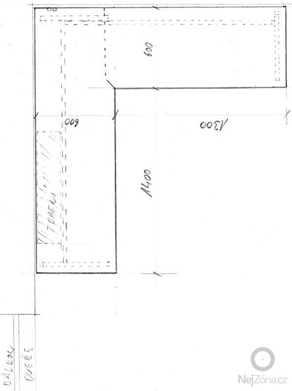 Výroba rohového pracovního stolu: stul-rozmery