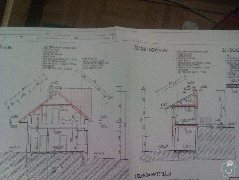 Střecha postaveni noveho krovu cca 200m2: IMAG0036