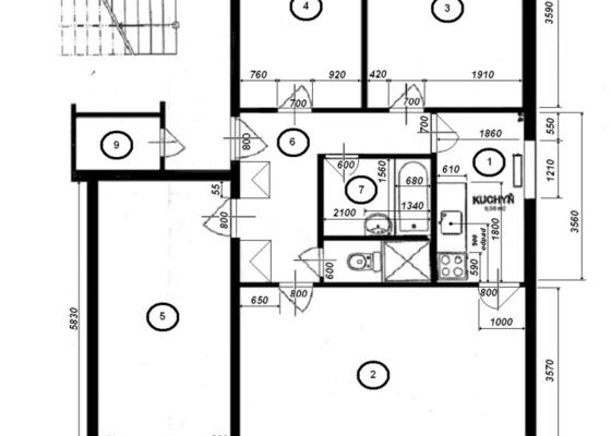 Vystěrkovat panelákový byt cca 70m2