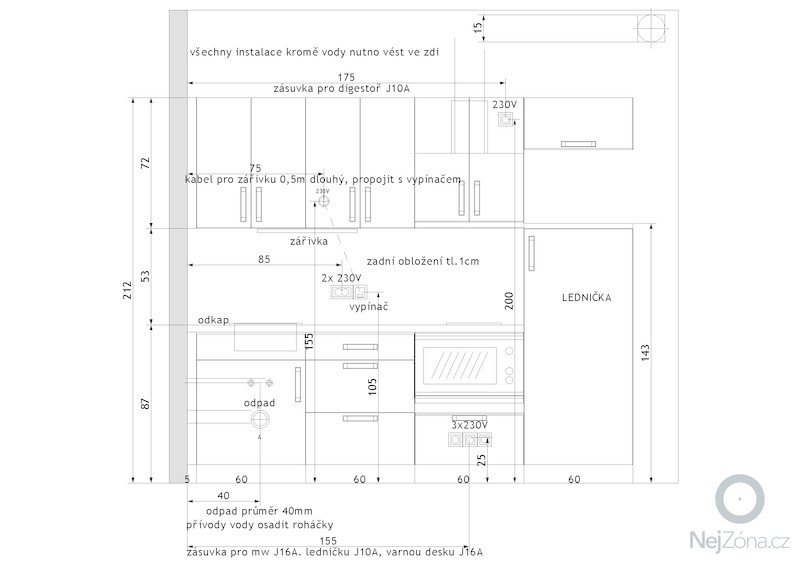 Elektroinstalace kuchyňské linky: Instalace_1