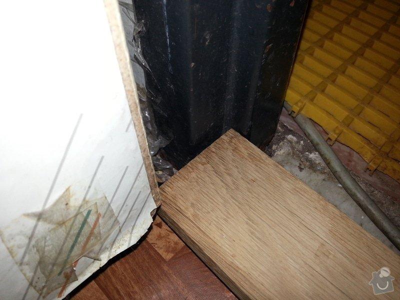 Instalace dřevěného prahu: 20130210_114556
