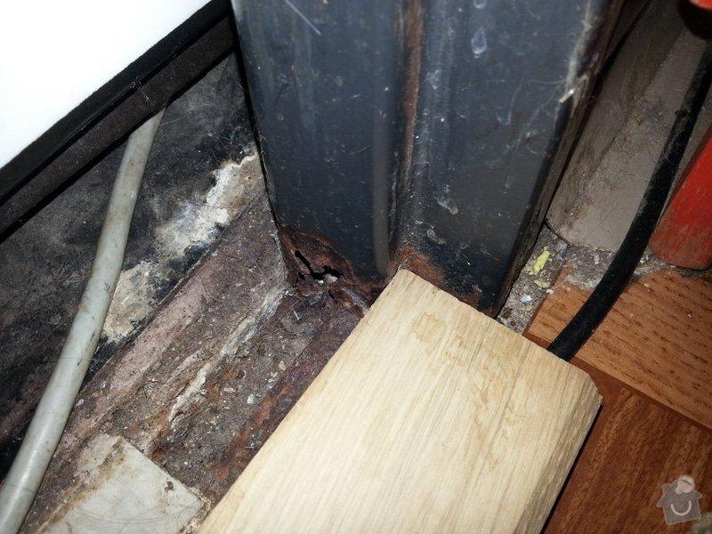 Instalace dřevěného prahu: 20130210_114604