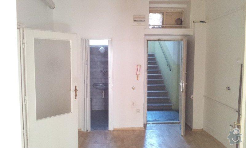 Rekonstrukce topeni, elekticke rozvody, koupelna: Predsin