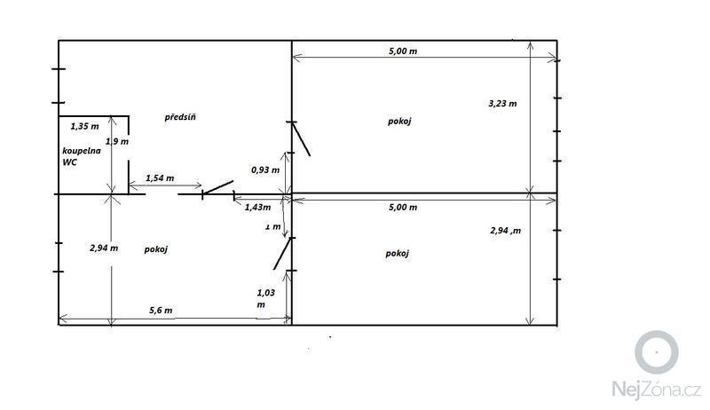 Rekonstrukce topeni, elekticke rozvody, koupelna: Rozmery_mistnosti
