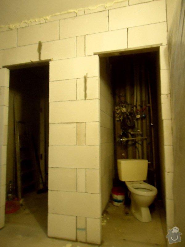 Bytové jádro, rek.koupelny, WC a chodby: 020