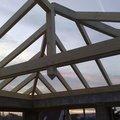 Zhotoveni strechy na stani pro auta prace 048