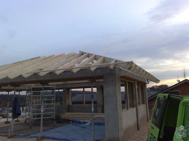 Zhotovení střechy na stání pro auta: prace_049