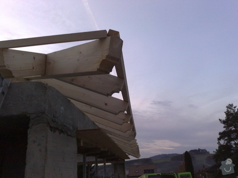 Zhotovení střechy na stání pro auta: prace_051