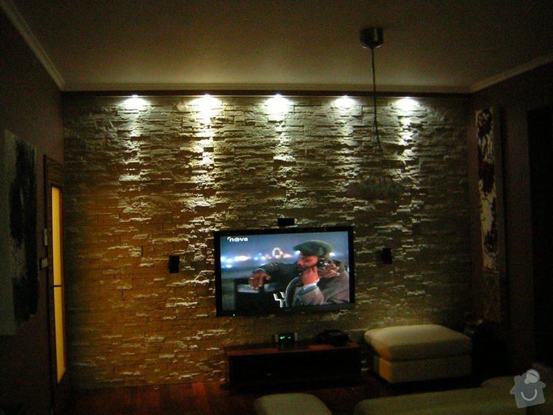 Úprava instalací pro kuchyň. Dekorativní  LED nasvětlení stěn, Nové osvětlení 2v1 LED v chodbě,  : DSCN4001