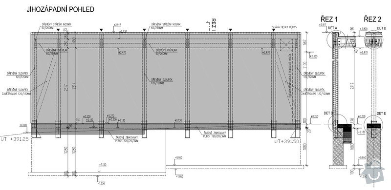 Dvojgaráž, dřevostavba, 48 m2: GA7