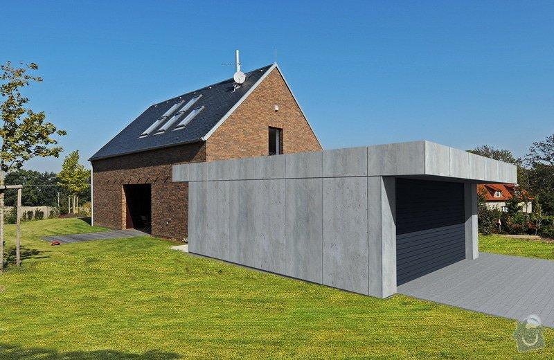 Dvojgaráž, dřevostavba, 48 m2: pohled_garaz