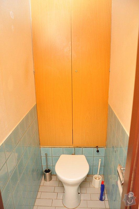 Rekonstrukce zděného WC: mistnost