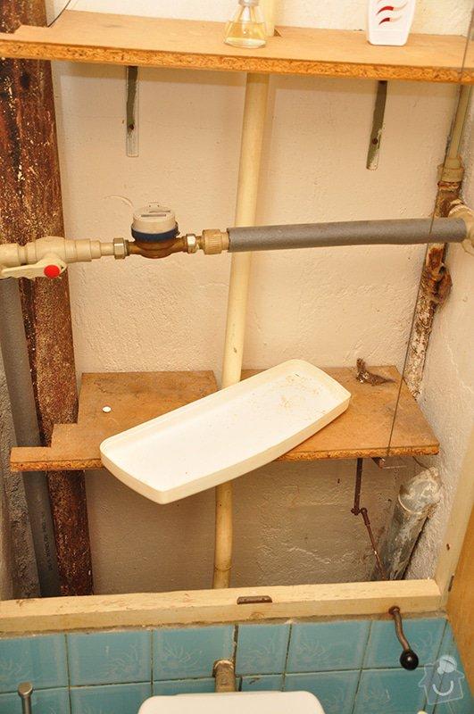Rekonstrukce zděného WC: trubky
