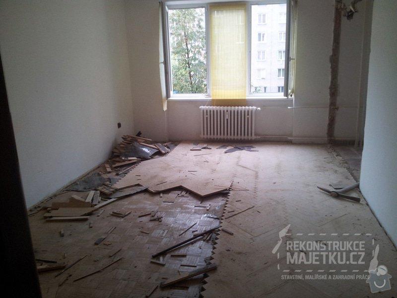 Demontáž umakartového jádra,Demontáž podlahy,Vyrovnání povrchu,pokládka plovoucích parket,montáž nábytku: 3