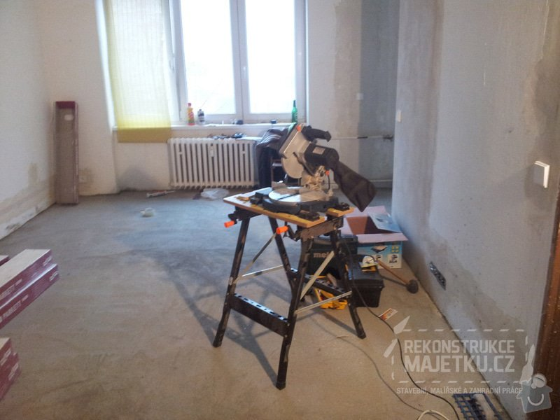 Demontáž umakartového jádra,Demontáž podlahy,Vyrovnání povrchu,pokládka plovoucích parket,montáž nábytku: 19