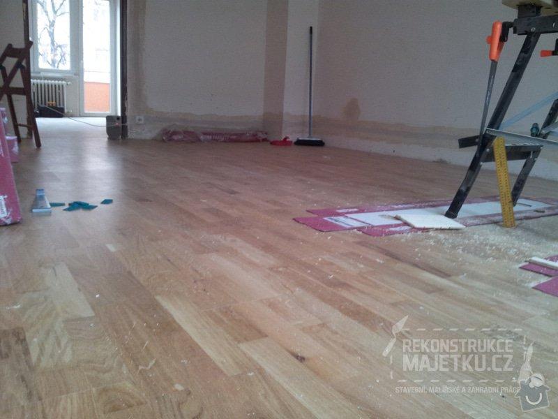 Demontáž umakartového jádra,Demontáž podlahy,Vyrovnání povrchu,pokládka plovoucích parket,montáž nábytku: 21