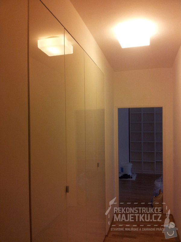 Demontáž umakartového jádra,Demontáž podlahy,Vyrovnání povrchu,pokládka plovoucích parket,montáž nábytku: 33