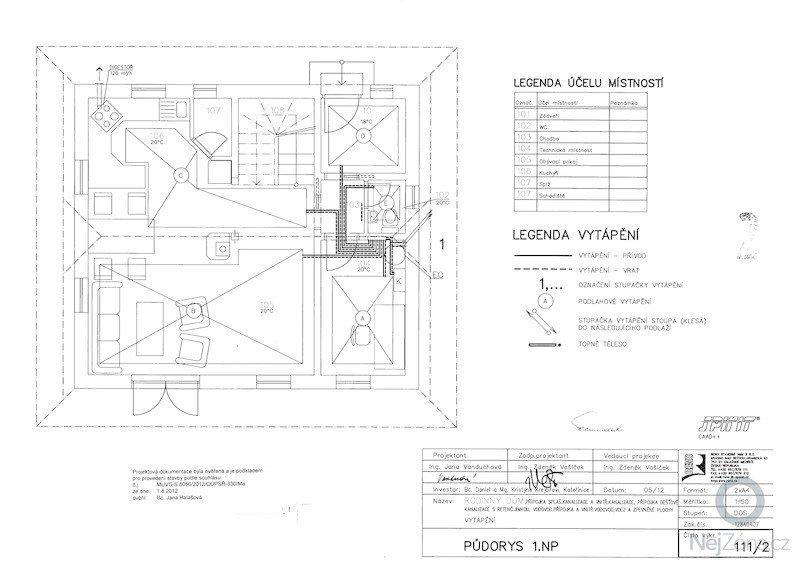 Dodávka a montáž systému podlahového vytápění: vyt_pudorys_np1